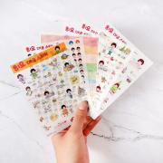 Mushroom Head Girl Diary Deco Stickers