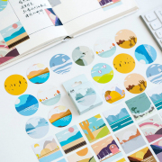 Cartoon Style Scenery Deco Sticker Pack