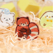 Chubby Zoo Series Embroidery Patch Sticker