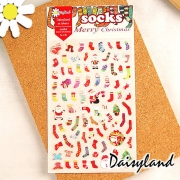 Daisyland Stickers Christmas Socks