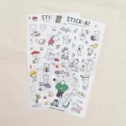 Buha Bear Diary Deco Stickers