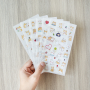 Puppy and Rabbit Diary Deco Stickers