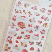 Strawberry Dessert Diary Deco Stickers