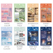 Floating Animals 2 Layers Diary Deco Stickers
