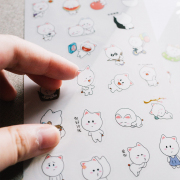 Big Face Rabbit Diary Deco Stickers