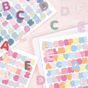 Bubbly Alphabet Diary Deco Stickers