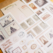 Classic European Stamps Diary Deco Stickers