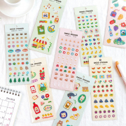 Cute Critters Series Diary Deco Stickers