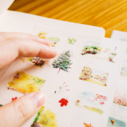 Enjoy Small Town Life Diary Deco Stickers
