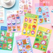 Dress Up Bear Rabbit Hologram Diary Deco Stickers