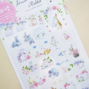 Monet Flower Crown Rabbit Diary Deco Stickers