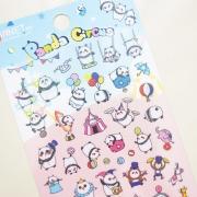 Monet Panda Circus Diary Deco Stickers