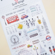 Suatelier London Diary Deco Stickers