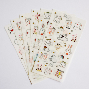 Fluffy and the Ghost Diary Deco Stickers
