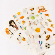 Girls Hobby Diary Deco Stickers