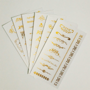 Golden Vintage Ornaments Diary Deco Stickers