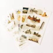Heart of a City Diary Deco Stickers
