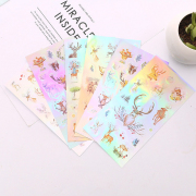 Majestic Deer Hologram Diary Deco Stickers