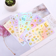 Yellow Duck Hologram Diary Deco Stickers