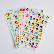 Hwaiting Lets Go Girl Diary Deco Stickers
