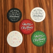 Lilclover Christmas Round Deco Stickers