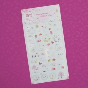 Monet Bichon Frise Diary Deco Stickers