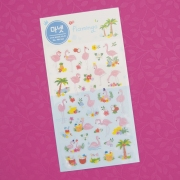 Monet Flamingo Diary Deco Stickers
