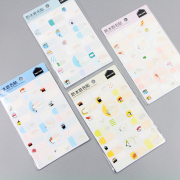 Sushi Variety Waterproof Name Stickers