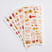 Pink Shopping Day Diary Deco Stickers