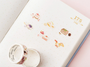 Sweet Desserts Roll Deco Stickers