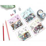 Panda Circus Flake Stickers Set