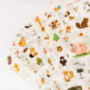 Zoo Animals Diary Deco Stickers