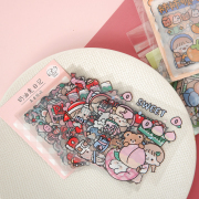 Butter Rabbit Diary Flake Stickers Set