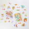 Cookie Bear Flake Stickers Set