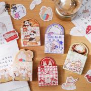 Cute Animal Club Flake Stickers Set