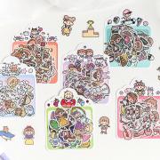 Monica and Friends Flake Sticker Set
