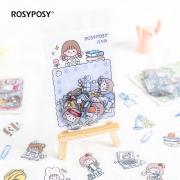 Rosyposy Rabbit Duo Flake Stickers Set