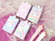 Unicorn and Rainbow Sticky Notes Set