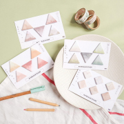 Watercolor Shapes Sticky Notes