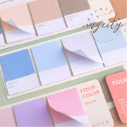 Four Color Sticky Notes Set
