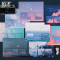 Sky and Sea Series Sticky Notes Set