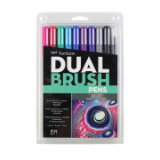Tombow ABT Dual Brush Pen 10pc Set Galaxy Palette