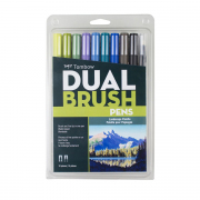 Tombow ABT Dual Brush Pen 10pc Set Landscape Palette