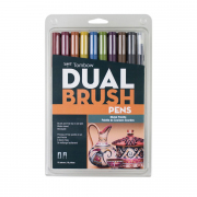 Tombow ABT Dual Brush Pen 10pc Set Muted Palette