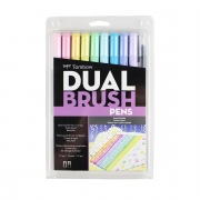 Tombow ABT Dual Brush Pen 10pc Set Pastel Palette
