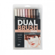 Tombow ABT Dual Brush Pen 10pc Set Potrait Palette