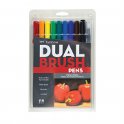 Tombow ABT Dual Brush Pen 10pc Set Primary Palette
