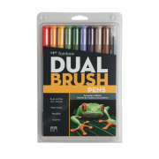 Tombow ABT Dual Brush Pen 10pc Set Secondary Palette