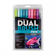 Tombow ABT Dual Brush Pen 10pc Set Tropical Palette