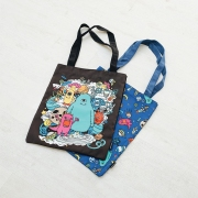 Cute Star Outer Space Canvas Tote Bag